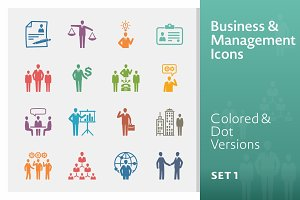 Colored Business & Management Icons
