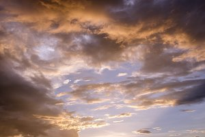 sunset sky with clouds
