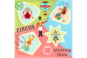 Posters circus. Amazing Show.