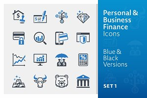 Personal & Business Finance Icons 1