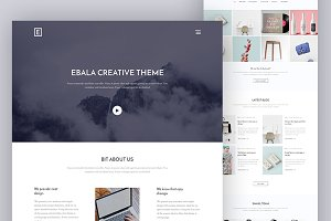 Creative Ebala Website PSD Template