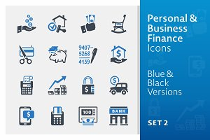 Personal & Business Finance Icons 2