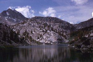 Vintage Mountain Landscape