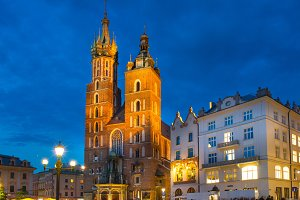 Saint Mary's church in Krakow