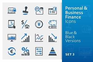 Personal & Business Finance Icons 3