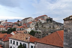 Houses of Dubrovnik near the wall