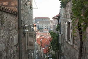 Medieval streets in Dubrovnik
