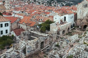Roofs and ruins of Dubrovnik