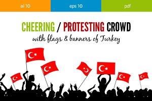 Cheering Crowd Turkey