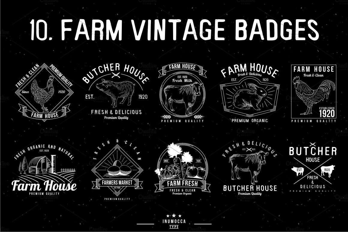 vintage farm logo photos graphics fonts themes templates