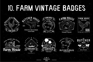 10 Farm Vintage (editable text)