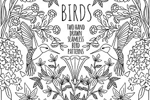 Birds - 2 seamless patterns