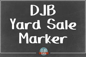 DJB Yard Sale Marker Font