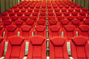 Rows of red cinema