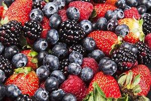 texture of strawberries,