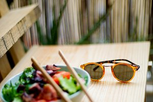 sunglasses with salad