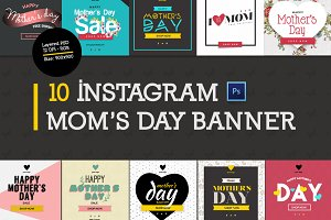 10 Mother's Day Instagram Banners