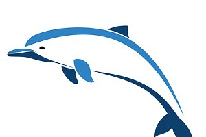 Vector image of an dolphin