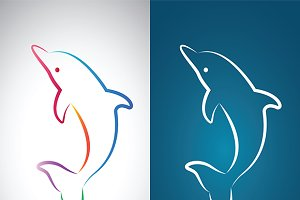 Vector image of an dolphin design