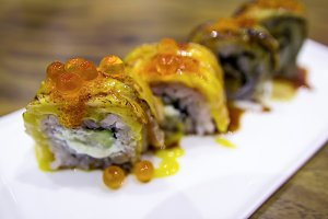 salmon sushi roll japanese food