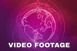Wireframe Globe Loop Full HD