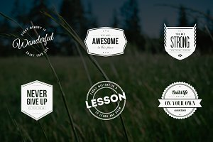 Vintage Logos & Badges Quote Style
