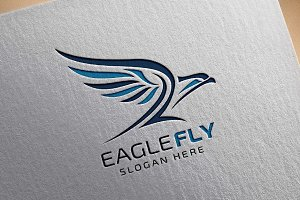Eagle Fly v2 Logo Template