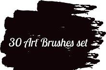30 Art brushes set vector