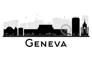 Geneva City skyline silhouette