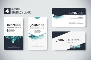 Corporate business cards template.