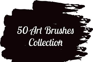 50 Art brush for illustrator vector