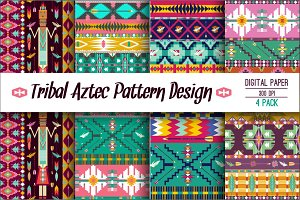 Boho collection tribal pattern