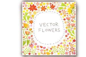 "12"" by 12"" flower illustration"