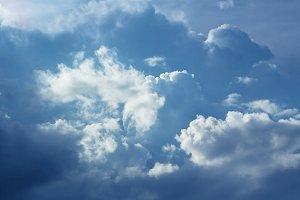 beautiful blue sky.
