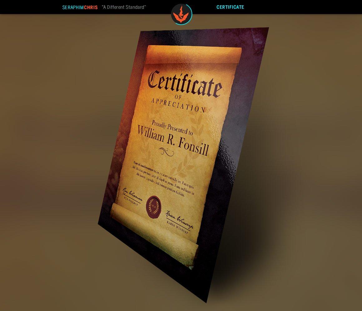 Royal Scroll Certificate Template  Creative Daddy Throughout Scroll Certificate Templates