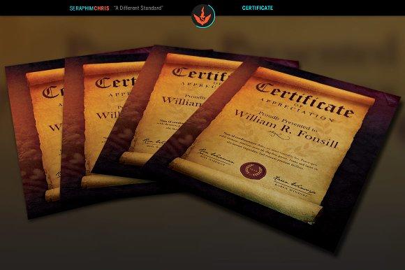 Royal Scroll Certificate Template Templates Creative Market