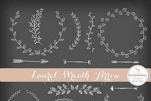 Wreath white clipart