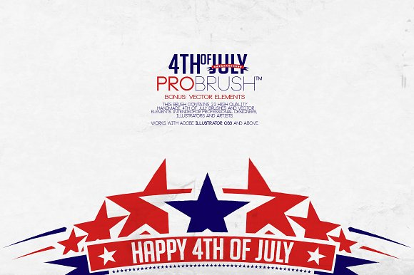 4th Of July - ProBrush™ + Vectors in Photoshop Brushes