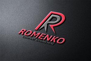 Romenko / R Letter Logo