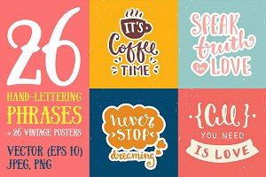 26 Hand Lettering Phrases & Posters