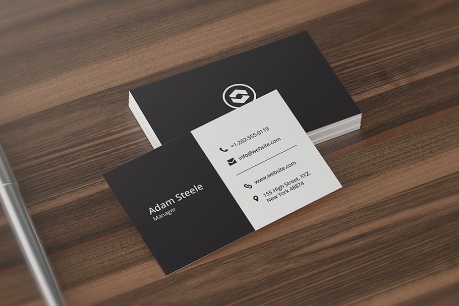 Minimal Business Card Template - Business Card Templates | Creative ...