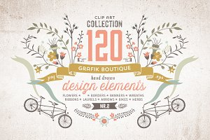 Graphic elements. More than 120!