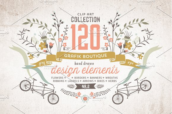 Graphic elements. More than 120! - Illustrations