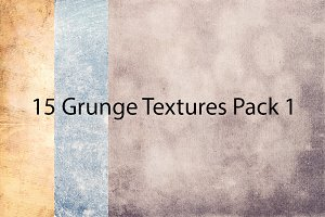 15 Grunge Textures Pack 1