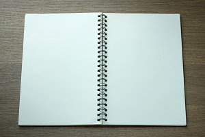 open spiral notebook