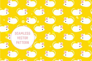 Seamless vector pattern Mouse