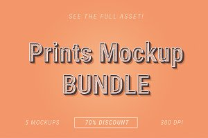 Prints Mockup Bundle