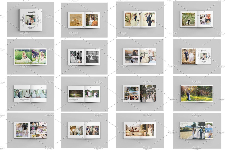 wedding photo album template v485 brochure templates creative market. Black Bedroom Furniture Sets. Home Design Ideas
