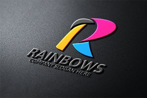 Rainbows / R Letter Logo