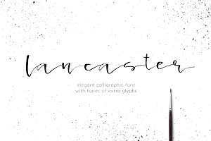Lancaster - calligraphic font